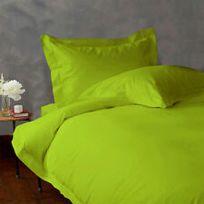 KING SIZE PARROT GREEN SOLID BED SHEET SET 800 THREAD COUNT 100% EGYPTIAN COTTON