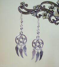 Pentagramma angelwing Dreamcatcher orecchini pendenti-WICCA STREGA PAGAN