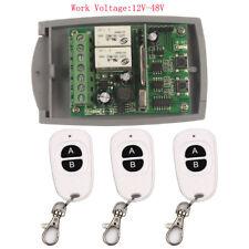 24 V 2CH Receptor Transmisor Remoto Control Interruptor 1/2/3 12V-48V Módulo de Relé