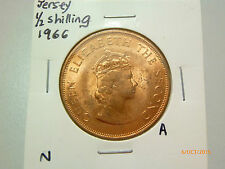 A: Jersey 1/2 Shilling coin (1966)  - UNC/BU
