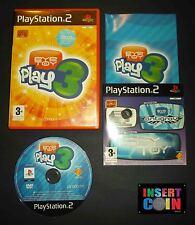 JUEGO EYE TOY PLAY 3 PLAYSTATION 2 PAL ESPAÑA   PS1 PS2 PS3