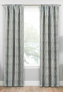 "Eclipse One Rod Pocket Panel Blackout Curtain Naya Gray 37"" x 63"" 2 Panel Set"