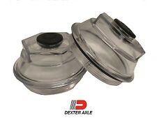 "PAIR 3.5"" Oil Bath Cap 21-88 Trailer Axle Dexter 9K 10K 8-415 430 Afr 2009"