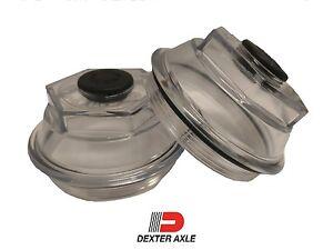 "PAIR 3.5"" Oil Bath Cap 21-88 Trailer Axle Dexter 9K 10K 8-415 430 Afr 2009"