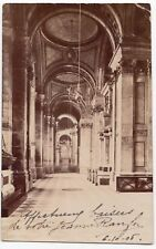 London; St Paul's Cathedral Interior, North Aisle RP PPC 1905 PMK By Photochrom