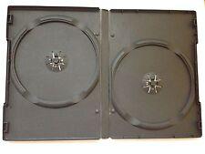 400 CUSTODIE DVD doppie NERE 14mm per CD DVD -R DOPPIA per verbatim tdk box12