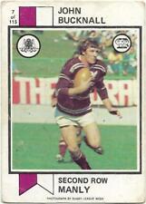 1974 Nrl Rugby League Scanlens (7) John BUCKNALL Manly *