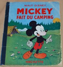 MICKEY -15- / Mickey fait du camping / RE 1949 / BE