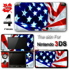 USA Flag Arts SKIN VINYL STICKER COVER for Nintendo 3DS