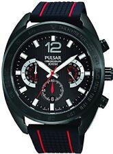 New Pulsar Men's Multi-Coloured Silicone Band Steel Case Quartz Watch (PT3675)