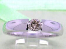 Rausverkauf  Diamant Brillant Ring 585 Weißgold 14Kt Gold 0,35ct Solitär