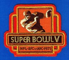 Super Bowl V 5 Baltimore Colts Dallas Cowboys Nfl Football Embroidered Patch