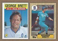 1986 1987 Topps (2) George Brett  Royals  EX+/NM