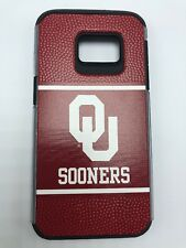 Oklahoma Sooners Hard Phone Case Samsung Galaxy S7 - Football Leather Grain Feel