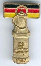 DDR seltenes Abz. Tag des Deutschen Bergmanns 1962 -goldfarbend, teils lackiert