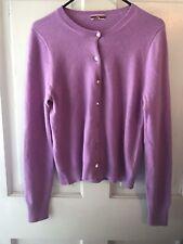 J Crew Collection Italian 100% Cashmere Lavender Cardigan Sweater - Size L