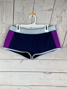 Women's Everlast Wrestling Boxing Very Short Booty Shorts sz 8 blue/purple