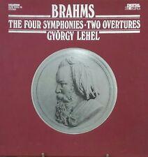 BRAHMS THE FOUR SYMPHONIES -- GYORGY LEHEL - 4 LP EN TRES BON ETAT + 1 livret