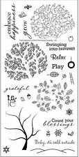 TREE MENDOUS Stamp Set Clear Unmounted Rubber Stamps TECHNIQUE TUESDAY New