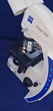 New Listingzeiss Primo Star Binocular Microscope With 4x10x40x100x Obj Amp 10x Eyepieces