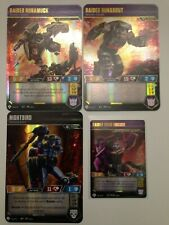 WAVE 4 PROMOS Transformers TCG War for Cybertron Siege II - All 4- P7 P8 P9 P10