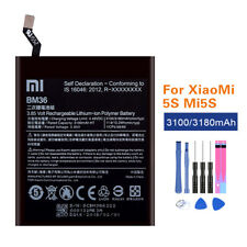 Original Battery BM36 For Xiaomi Mi 5S Mi5S 3100/3180mah Akku Li-ion Akku+Tools