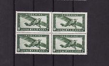 lot timbres  poste aérienne avant indépendance  indochine 2c vert **  bloc de 4