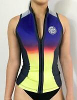 Rip Curl G Bomb Sleeveless VEST Wetsuit Jacket Swim Surf Top New WVE6BW Multico