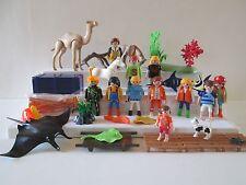 Playmobil Lot marine life 11 people figures animals racers summer garden police