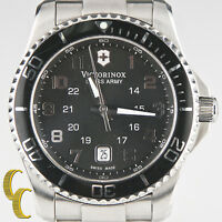 "Victorinox Men's ""Swiss Army"" Stainless Steel Wrist Watch w/ Date & Extra Links"
