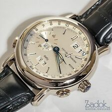 Ulysse Nardin 18k White Gold GMT Perpetual Calendar Automatic Watch 320-22