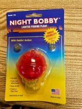 "NIGHT BOBBY Glow Bobber 1.75 "" diameter lights up WITH RATTLE  NIP"