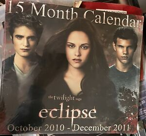 RARE Factory Sealed (BRAND NEW) The Twilight Saga ECLIPSE 15 Month Calendar 2010