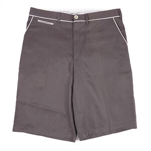 Imperfect Brioni Brownish Gray Cotton Shorts with Contrast Details 31 (Eu 46)