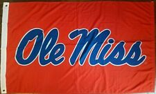 Ole Miss Flag Banner Large 3'X5' NCAA New without Tags. FREE SHIPPING