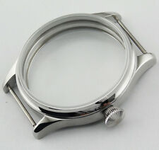 Sterile 44mm Steel Case fit eta 6497/6498 Seagull ST36 movement parnis WATCHp330
