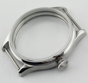 Stainless Steel CORGEUT 44mm Watch Case Fit 6497/6498  ST36 Men's Watch Movement