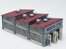 Z-scale Scratch built Dual Locomotive shed with electric doors