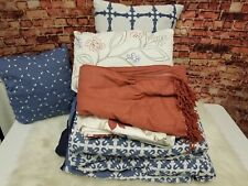 Martha Stewart Collection Madeline 10-Piece Queen Comforter Set Blue Embroidered