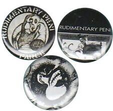 Rudimentary Peni: Set of 3 Pins-Buttons-Badges |Nick Blinko|