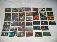 LORD OF THE RINGS,COLLECTORS CARDS, x40 ROTK, TFOTR,TTT, FOIL, BTS, Topps