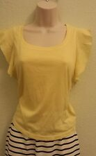 Women  American Rag Summer Yellow blouse Vest Shirt Top size Xs Casual NWT