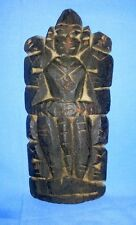 Antique Huge Rare Wooden Hand Engraved Tribal Goddess Figurine Statue Doll India