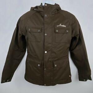 Burton Snowboard Jacket Size XS Brown Hood Pockets