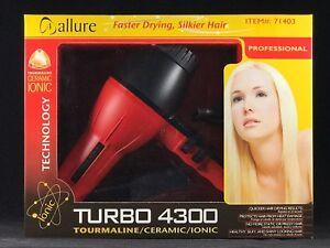 Allure Turbo 4300 Tourmaline/Ceramic/Ionic Hair Dryer 1875-WATTS Blow Dryer