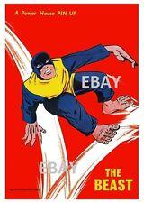 POWER PIN-UP Print - BEAST X-Men Vintage Artwork Marvel UK Distribution