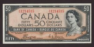 Canada 🇨🇦1954 - $50 Dollars Coyne Towers Sig. ***DEVIL'S FACE*** - EF+