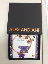 Alex and Ani Butterfly Bangle Bracelet Shiny Rose Gold New Tag Box Card 2018