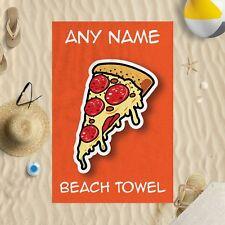 147cmx99.1cm personnalisé enfants Pizza Microfibre Serviette de plage sun bain
