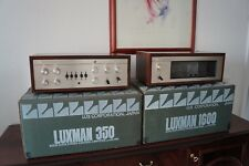Luxman CL 350 and m-1600 Pre and Power Amplifier -- vintage hifi Dream --